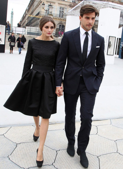 olivia palermo olivia palermo dress black wave