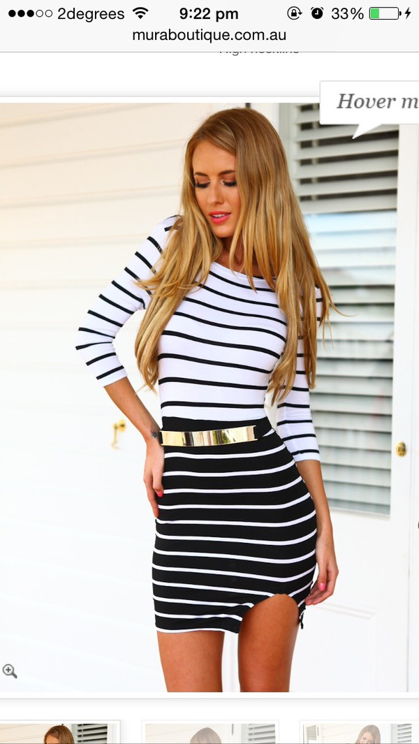 dress stripes black and white boutique stripped mura boutique