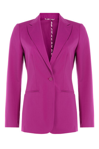 blazer cotton purple jacket