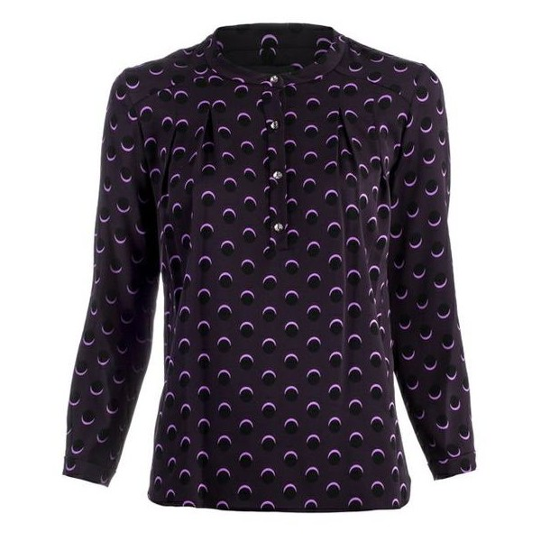 Cynthia Rowley Shadow Dots Blouse
