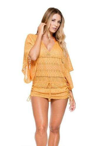 dress beach dress cover up luli fama orange bikiniluxe