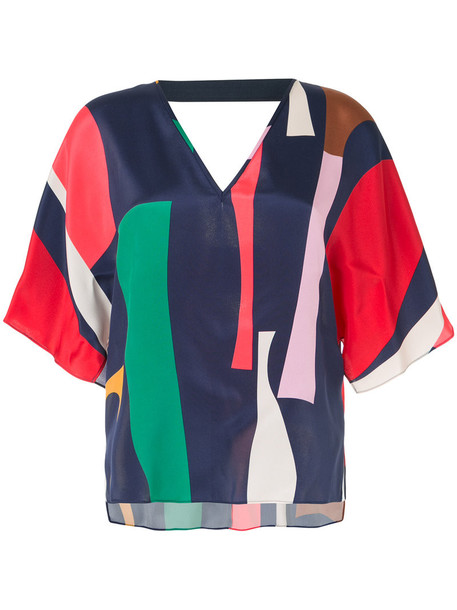 Ginger & Smart - geometric print shift blouse - women - Silk/Spandex/Elastane/Viscose - 12, Silk/Spandex/Elastane/Viscose