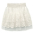 ROMWE | ROMWE Lace Crochet Elastic White Skirt, The Latest Street Fashion