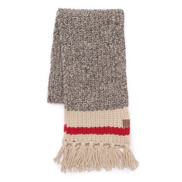 scarf knitwear roots cabin scarf