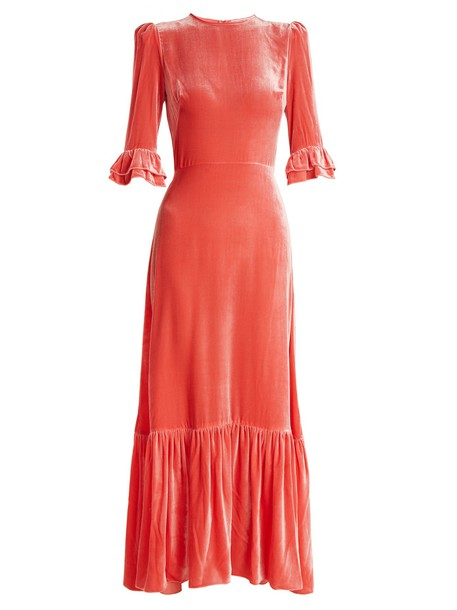 THE VAMPIRE'S WIFE dress velvet dress velvet pink