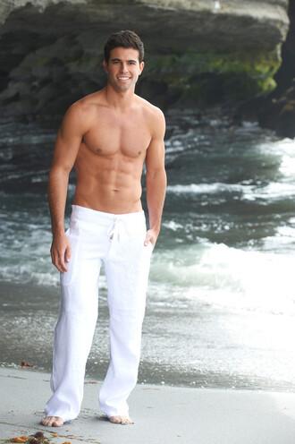 pants mens sauvage activewear white linen pants bikiniluxe