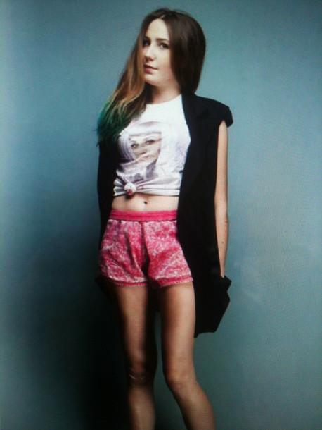 shorts fade pink