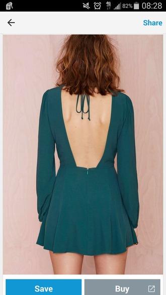 dress green dress emerald emerald green emerald dress backless dress skater dress