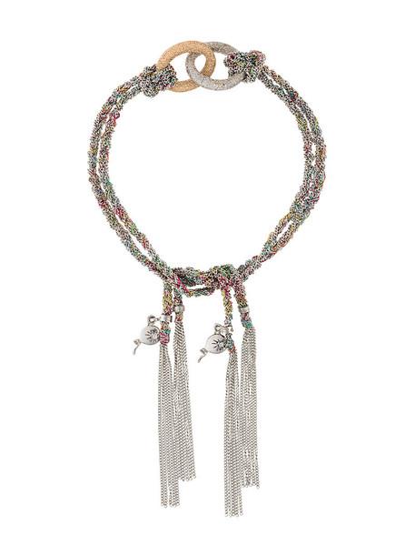 Carolina Bucci rose gold rose women gold white silk grey metallic jewels