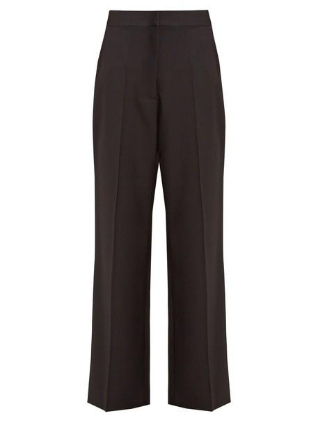 Stella McCartney wool satin black pants