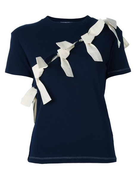 Jacquemus t-shirt shirt t-shirt women cotton blue top