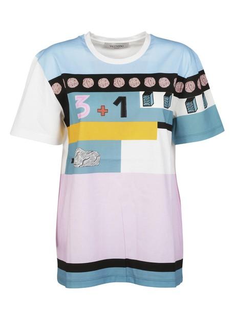 t-shirt shirt printed t-shirt t-shirt multicolor top