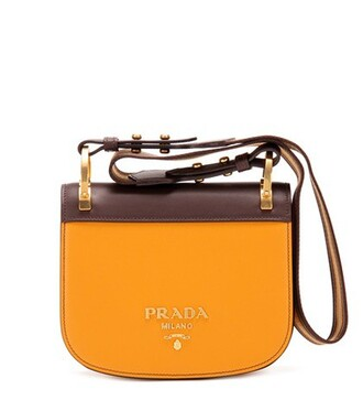 bag shoulder bag leather orange