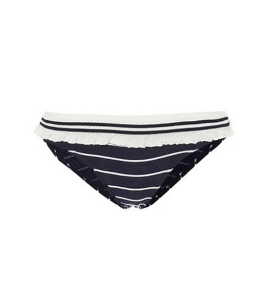 Jonathan Simkhai Striped bikini bottoms in blue