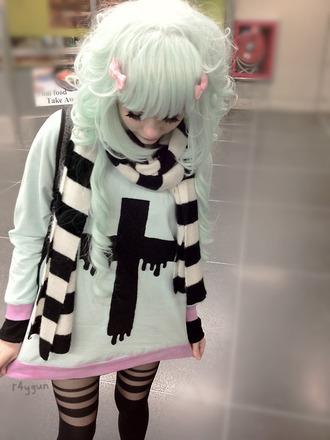 sweater cross black pastel pastel goth goth jumper top