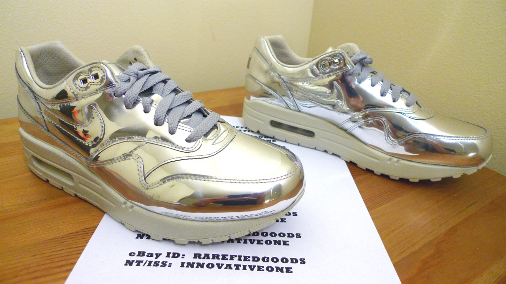 Nike Air Max 1 87 Metallic Silver Liquid Metal SP Sz 8 5 Wmns 6 UK Dunk Gold | eBay