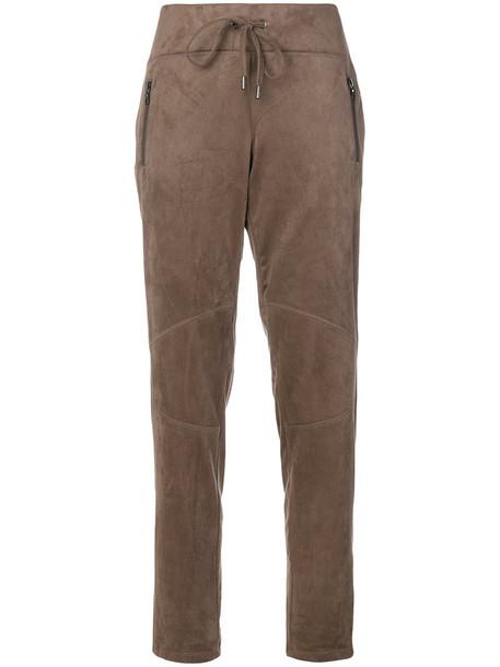 Cambio women drawstring brown pants