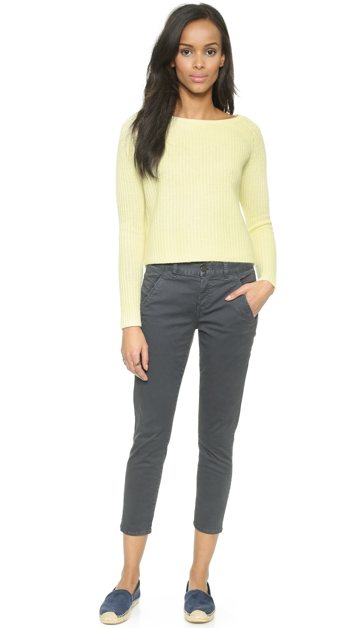 360 sweater cole cropped cashmere sweater