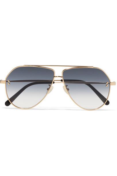 Stella McCartney style sunglasses gold blue
