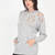 Laid-Back Life Distressed Sweatshirt IVORY HGREY BLACK - GoJane.com