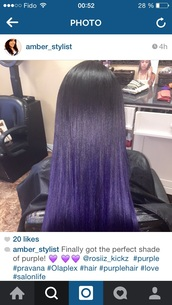 hair accessory,purple hair ombre violett,ombre hair