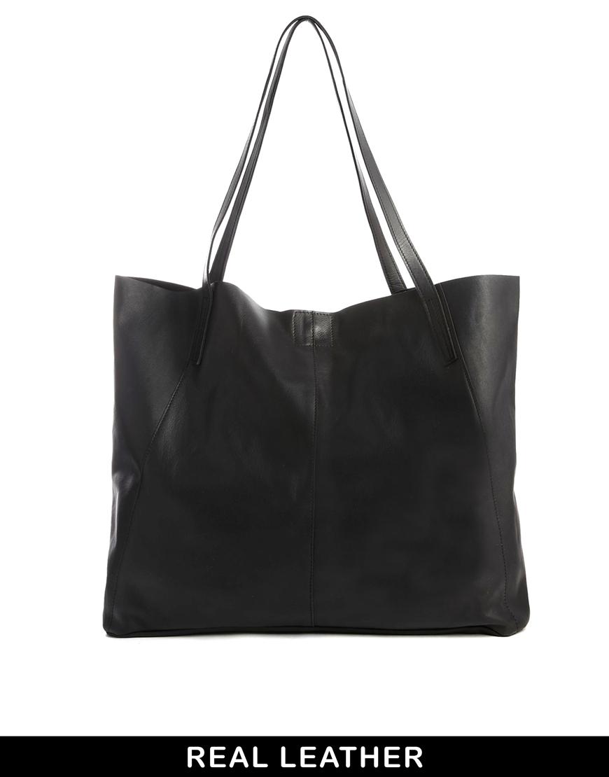 ASOS Leather Floppy Shopper Bag at asos.com