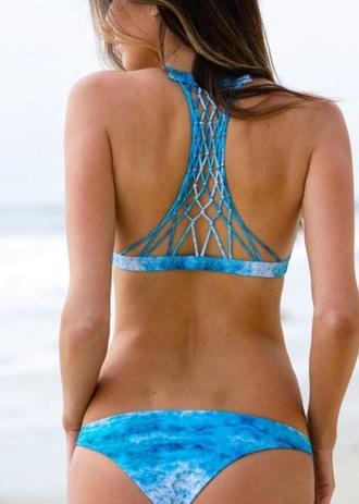 swimwear bikini blue bikini beachwear