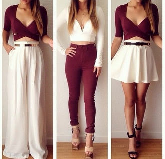 pants white wide leg pants white pants high waisted pants elegant style fashion fashionnova pretty beautiful golden belt jeans dress tights