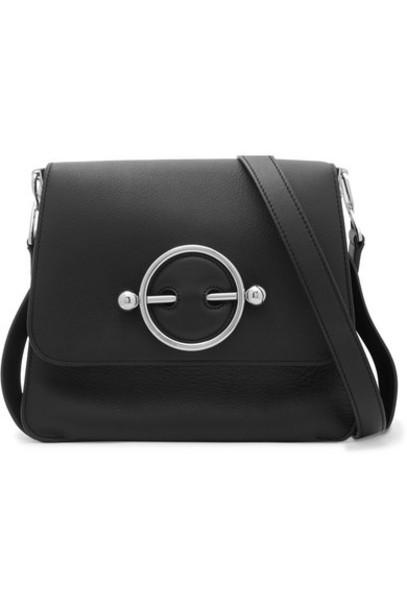 JW Anderson - Disc Leather Shoulder Bag - Black