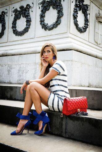 shoes fashion style high heels bow high heels dress purse