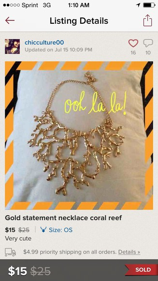jewels gold necklace coral gold coral gold coral necklace statement necklace gold statement necklace coral necklace