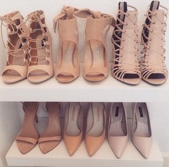 shoes nude beige heels