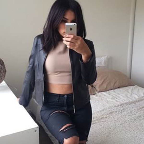 jeans clothes tumblr ghetto glamour nude ripped