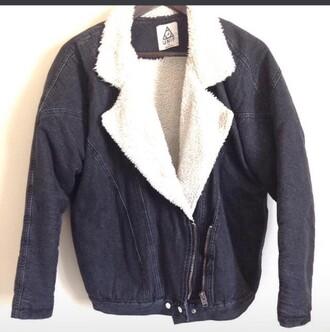 coat fur jacket jeans winter outfits zip oversized