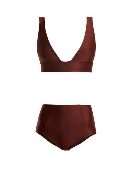 Haight bikini triangle bikini triangle high brown swimwear