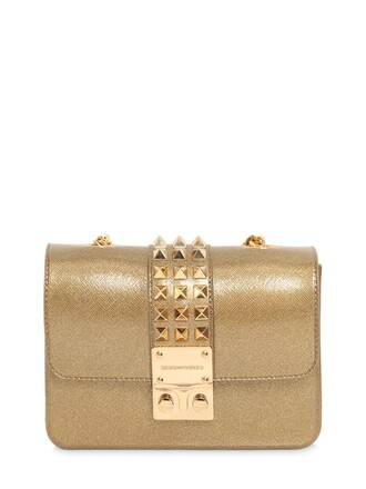 studded glitter bag shoulder bag gold