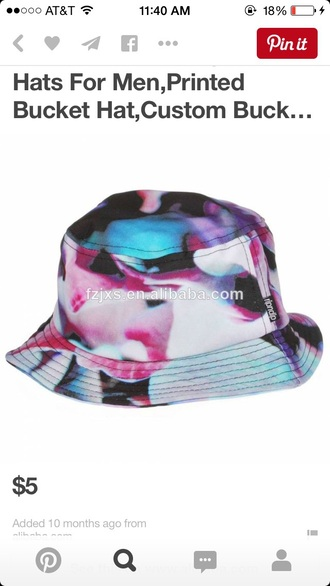 hat bucket hats fashion colorful floral colorful hats