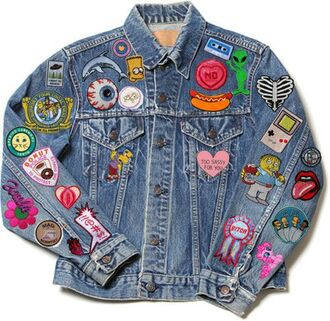 jacket no sassy grunge tumblr feminist heart jeans patch eyes alien hipster 90s style the rolling stones hot dog punk