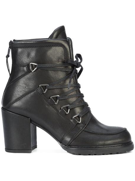 STUART WEITZMAN women ankle boots leather black shoes