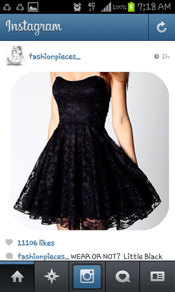 dress little black dress lace