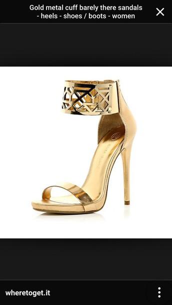 shoes gold heels gold heel