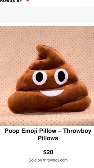 pajamas poop emoji pillow