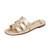 Sam Edelman Berit Slide Sandals - Molten Gold