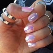 nail polish,holographic nails,nails,pink,purple,holographic nail polish,holografic nail,nail art
