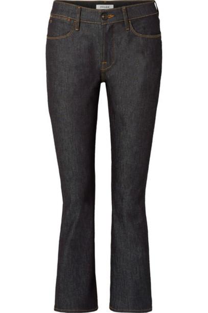 FRAME jeans denim cropped high dark
