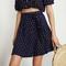 Venice print - navy - malaga skirt