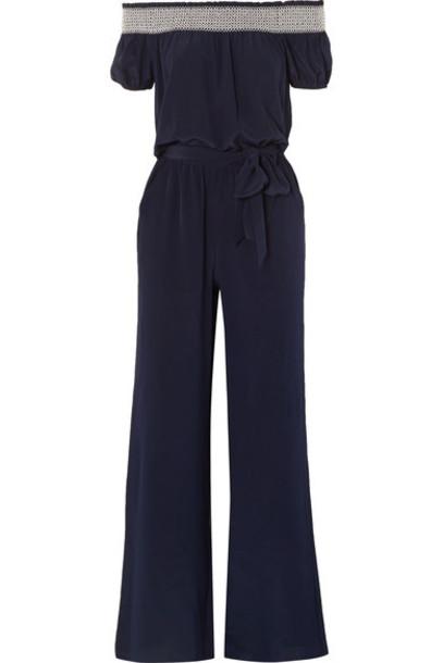 Tory Burch jumpsuit blue silk