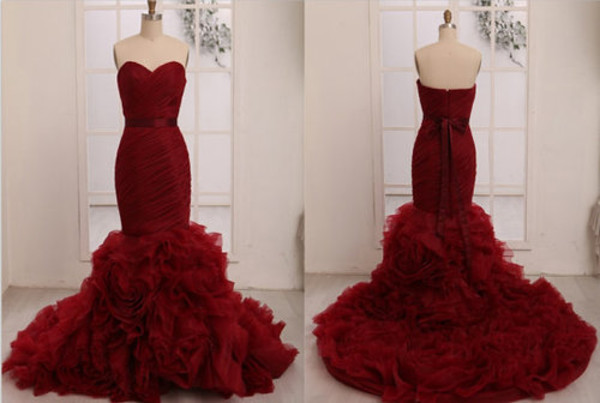 velvet mermaid party dress dress prom dress prom dress evening dress prom wine burgundy dress formal wedding dress mermaid prom dress sweetheart neckline beautiful
