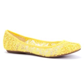 shoes yellow lace