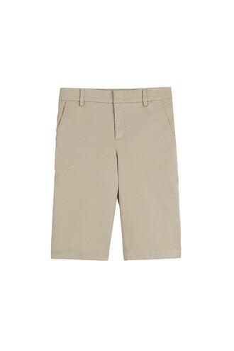 shorts bermuda cotton beige